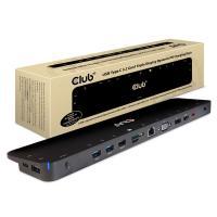 CLUB3D SenseVision USB Type C Triple Display Dock