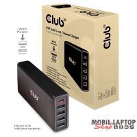 CLUB3D USB-C + 4xUSB-A 111W power adapter