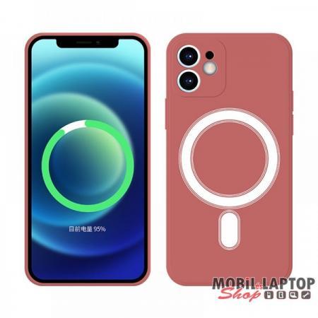 Cellect CEL-MAGSAFEIPH12PM-R iPhone 12 Pro Max piros mágneses szilikon tok